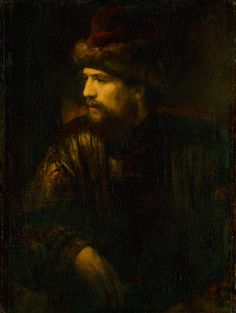 Portrait of a man in a red kolpak by Willem Drost, ca. 1654 (PD-art/old), Gemäldegalerie Alte Meister, from the collection of John II Casimir Vasa