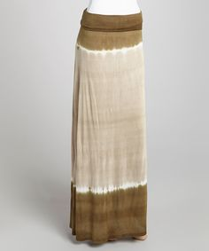 Take a look at this Brown Tie-Dye Maxi Skirt on zulily today!