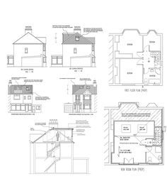 loft plans 1930s semi - Google Search  sc 1 st  Pinterest & floor plan idea for attic bedroom bathroom conversion only bedroom 2 ...