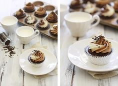 Nutella Cupcakes. Nutella OBSESSION.. #recipes #nutella