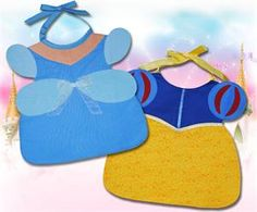 Blue and Puff Sleeve Princess Toddler Bib Pattern ST-105e (instant download)