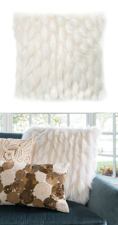 It's the unmistakable pattern that sets this throw pillow apart—tufts of acrylic shag conjure images of frolicking sheep, while the beaded pattern evokes falling blankets of snow. Use this unique accen...  Find the Blizzard Throw Pillow, as seen in the Scandinavian Farmhouse Collection at http://dotandbo.com/collections/scandinavian-farmhouse?utm_source=pinterest&utm_medium=organic&db_sku=114997
