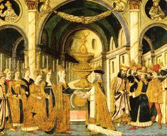 This scene depicts a marriage during the Florence Renaissance. All of the people there are wearing very fancy attire for the time so it is most likely that only the richest of people held weddings in a public place Florence Renaissance, 15th Century, Palaces, Castles, Artworks, Marriage, Public, Scene, Portraits