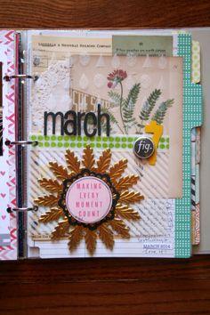 jbs inspiration monthly mini album by Doris Sander every spread gorgeous