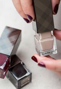 Burberry nail polish. Designer digits.