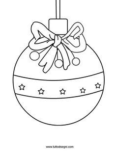 Disegno pallina albero di Natale - TuttoDisegni.com