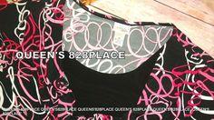 Kim Rogers Womens Stretch Plus SIze 2X Black Pink White Print Short S.Top Shirt #KimRogers #KnitTop #Casual
