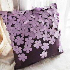 Romantic purple flowers hyacinth stereo aesthetic pillow & cushion
