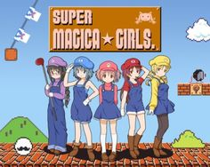 Super Magica Girls, or Super Madoka Sisters XD LOL!