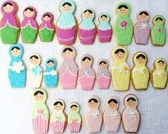set of 3 Russian doll cookie cutters
