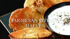Parmesan Potato Halves