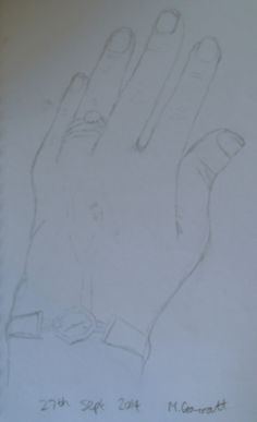 Day 27 sketch  #30daysketchbookchallenge  'Hand, drawn during car journey'