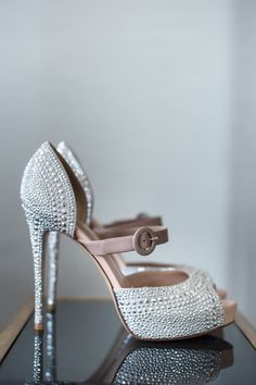 Fabulous silver pumps: http://www.stylemepretty.com/2014/06/06/chic-boston-public-library-wedding/ | Photography: Ned Jackson - http://www.nedjackson.com/