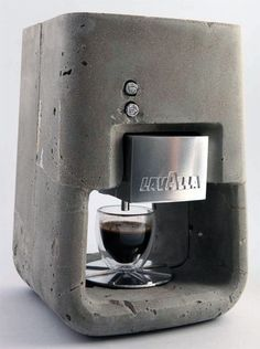 I love my espresso machine, but this is beautiful: Cement LavAzza Coffee Machine Buttons View