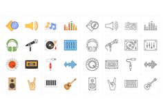 16 universal flat music icons by Anton on Creative Market