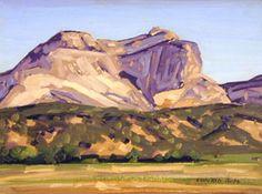 "conrad buff paintings | Conrad Buff, Maynard Dixon's Back Porch , Oil on Panel, 11"" x 15"""