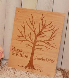 Wedding Sign/Guest Tree/Engraved/Wood by GingerbreadEngraved