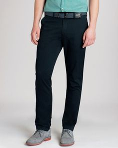 Made from cotton with a hint of stretch for added comfort, these streamlined Ted Baker chinos transition easily from work to weekend. Bronn, Black Chinos, Twill Pants, Ted Baker, Cool Style, Mens Fashion, Classic, Fitness, Limo