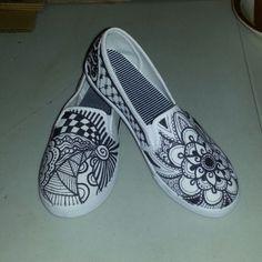 Zentangle Sharpie Shoes by B-Brilliant