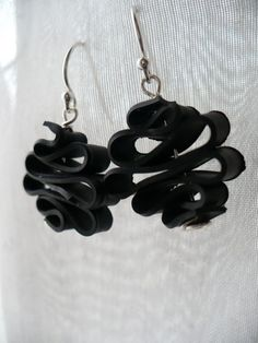 Badass Candy Ribbon - Recycled Bike Tube earrings