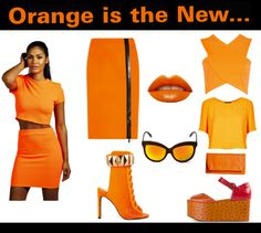 Super cute Fashion Trend of the Week: Orange is the New Black Shop more @ www.flygyal.com