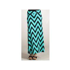 Flared Chevron Maxi Skirt - Apostolic Clothing ($49) ❤ liked on Polyvore
