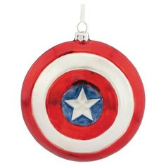 Marvel Comics Avengers Captain America Shield Blown Glass Christmas Ornament -- Click image to review more details.Note:It is affiliate link to Amazon. #LoveForMarvel