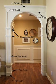 Hottest Pictures Moldings And Trim doorway Thoughts The lining wall space of a home or office are sometimes not really complete without employing any moulding type. House Design, Home Projects, Arched Doors, Home, Home Remodeling, House Interior, Moldings And Trim, Interior Trim, House Trim