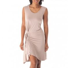 Lace-Up Side Dress