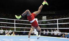 Britain's Joe Joyce celebrates after his win