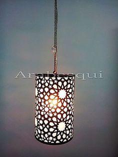 B198-Arabian-Oriental-Style-Cylinder-Drum-Pendant-Chandelier EBay seller located in Egypt, cool lamp