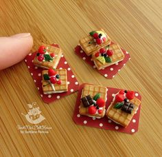 Made to order. A set of miniature waffles (6 pieces)