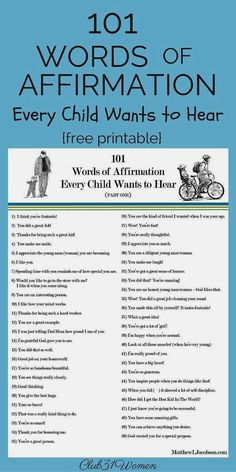 """Do you recognize the Do you recognize the need to build up your children every day, too? This list of phrases will encourage the child who hears them from a sincere parent. There are so many """"voices"""" in this world telling our kids they don't measure"""