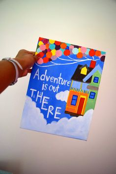 "Quote Canvas (9'' x 12'') : Disney's UP ""Adventure is out there."""