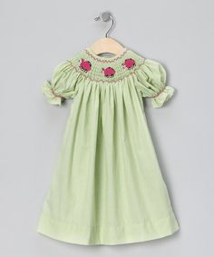 Take a look at this Green Ladybug Bishop Dress - Infant, Toddler & Girls by Marjorie's Daughter on #zulily today!