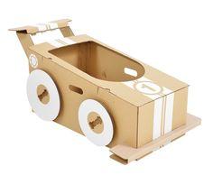 Cardboard Little Racer contemporary-kids-toys Cardboard Car, Cardboard Crafts, Cardboard Airplane, Mario Kart, Toys For Boys, Kids Toys, Carton Diy, Imaginative Play
