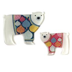 THIS MUMMY & BABY PAIR WILL MELT YOUR HEART! POSSIBLY WEARING THE TRENDIEST SKANDI JUMPERS EVER SEEN ON A POLAR BEAR WHO COULD RESIST? THEY FASTEN WITH SINGLE BAR CLIPS ON THEIR BACKS. MUMMY: Winter Season, Fall Winter, Button Jewellery, Baby Polar Bears, Aw17, Jumpers, Happy Shopping, Compliments, Buttons