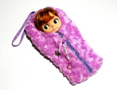 "The Original Blythe Sleepsack from PINKKIS: ""Kettu"" the Wild Fox Carrier for Blythe Dolls"