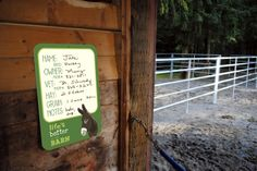 Horse stall whiteboards!  http://bainbridgefarmgoods.com/product/white-board-12-x-18-lifes-better-at-the-barn-donkey-green/