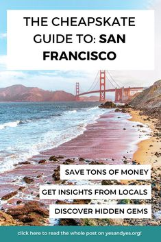 ]Is cheap travel really possible in San Francisco? It is - if you're willing to dig a little bit. Read on for cheap San Francisco travel tips - where to stay, what to do, and where to eat! #budgettravel #sanfrancisco #cheaptravel #travelonashoestring #traveltips California Travel Guide, Usa Travel Guide, Travel Advice, Travel Usa, Travel Guides, Travel Tips, Cheap Travel, Budget Travel, San Francisco Travel
