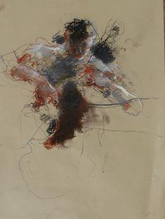 Caroline Deane(British)/  Russian Cellist/  Pastel on paper