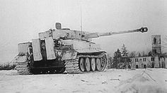 A 13./SS-Panzer-Regiment 1 Tiger Tank fires its main gun into enemy position to provide suppressive counter fire near Petrovka (east of Vinnytsia), Ukraine, February 1944. This was one of the new replacement tanks that were delivered that month and has a small black 2 on the forward art of the turret and on the rear turret stowage box as a tactical identifier. 13./SS-Panzer-Regiment 1 was a schwere Panzer-Kompanie equipped with Tiger tanks for the Leibstandarte Division which was established...