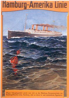 1905 Hapag steamers vintage travel