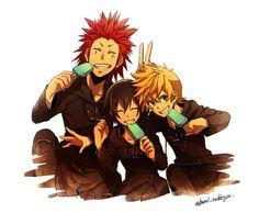 Axel, Xion, Roxas