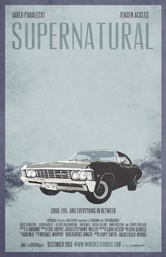 Supernatural Impala (Movie Poster). $20.00, via Etsy.