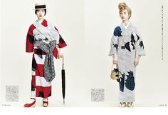 DOUBLEMAISON yukata coordination of magazine Soen