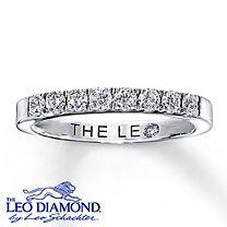 My birthday present to myself this year  14K White Gold 3/8 Carat t.w. Leo Diamond Band
