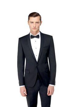 Mariage fumer and paris on pinterest - Costume noir mariage ...