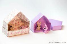 house origami – RechercheGoogle Origami Gift Box, Origami Paper Folding, Origami Star Box, Origami Ball, Origami Love, Origami Fish, Origami Bookmark, Origami Design, Origami Flowers
