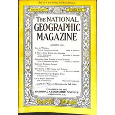 National Geographic Magazine, August 1943 | $9.14